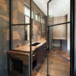 Steel Doors in Bathroom Shower - 1