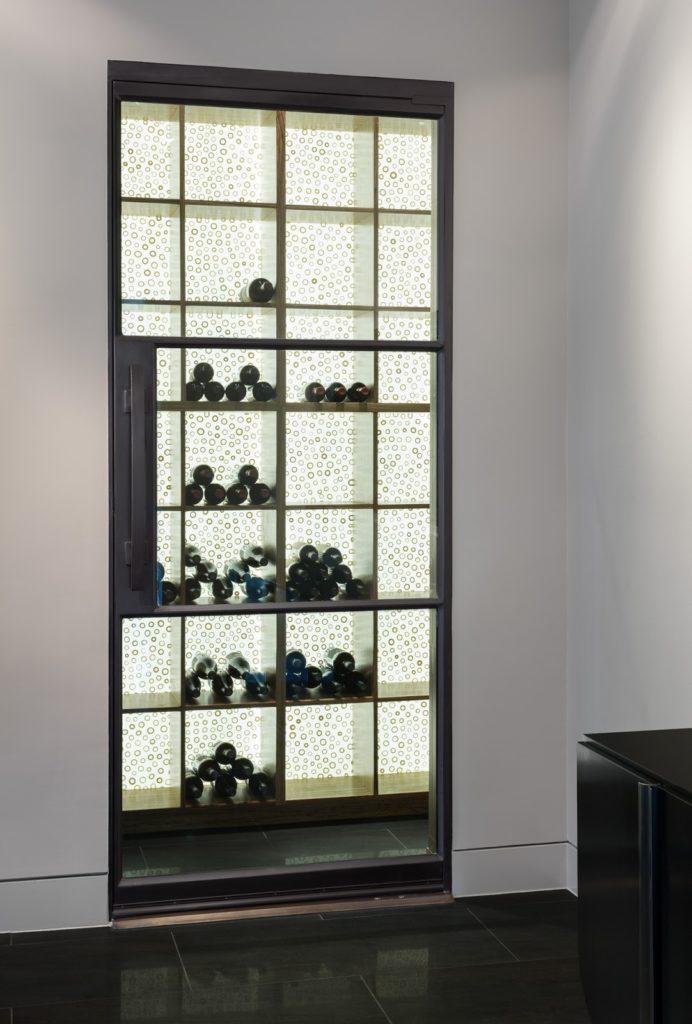 Wine Cellar Door Steel And Glass 3 Lite Door Portella
