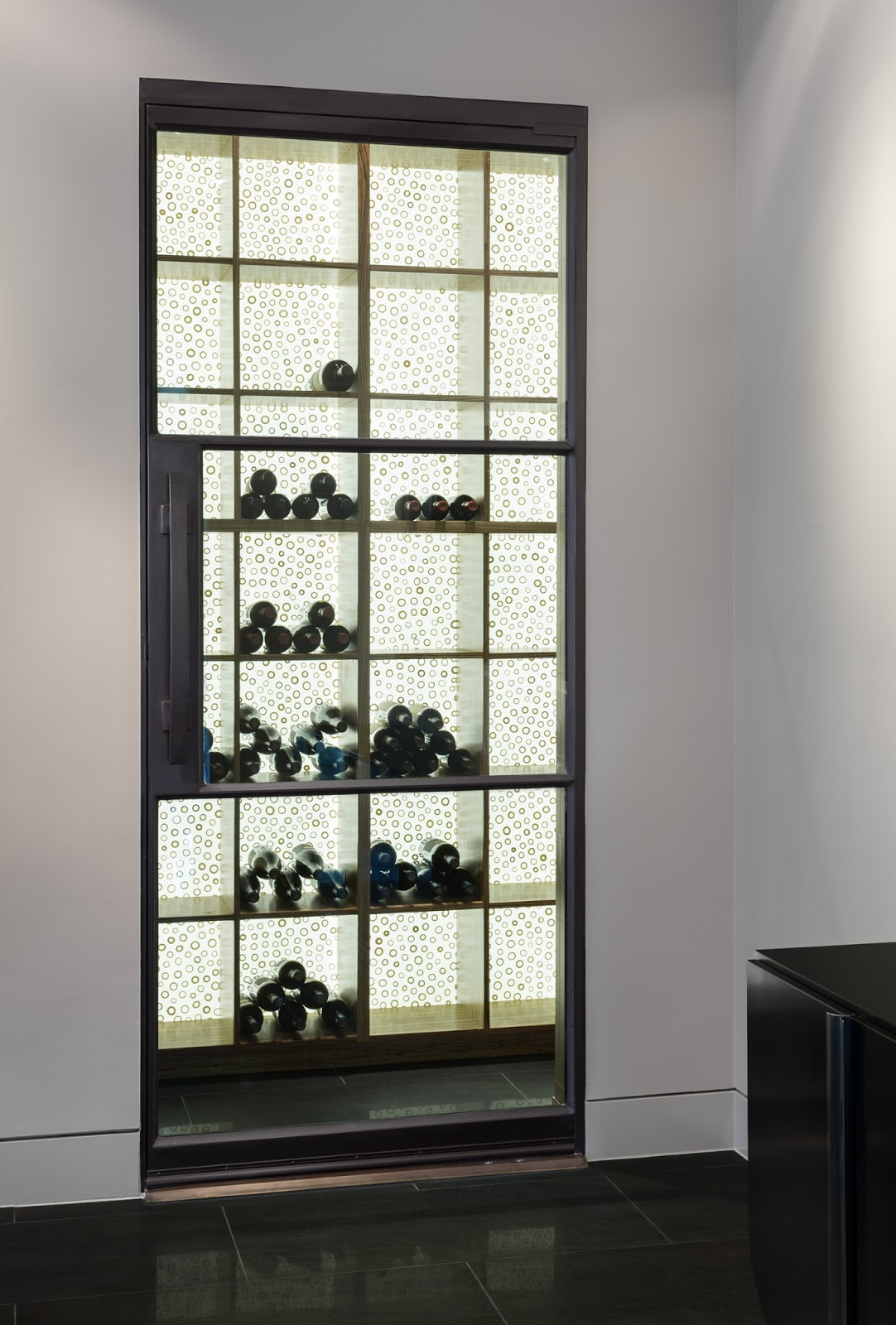 1600 #5B4F3F Wine Cellar Door Steel And Glass 3 Lite Door Portella wallpaper Steel Glass Doors 40651082