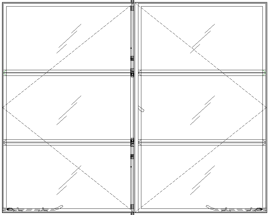 Diagram of Portella Out-Swing French Casement Window