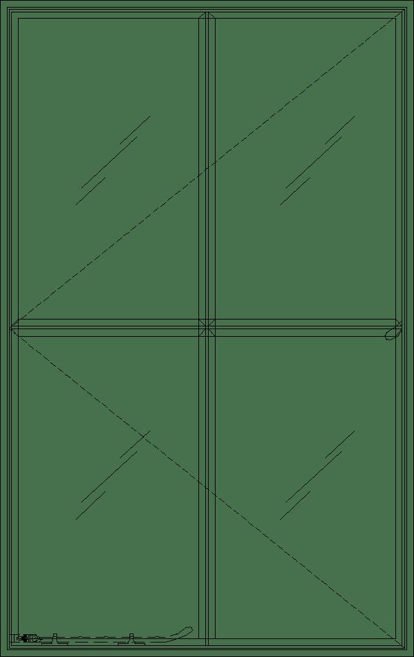 Diagram of Portella Single Out-Swing Casement Window
