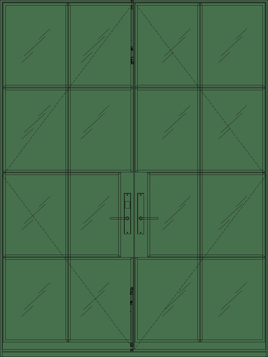 Diagram of Portella Double Door In-Swing French Door
