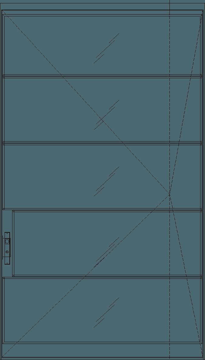 Diagram of Portella Pivot Door