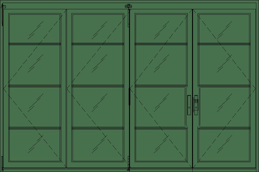 Diagram of Portella Bi-Fold Door