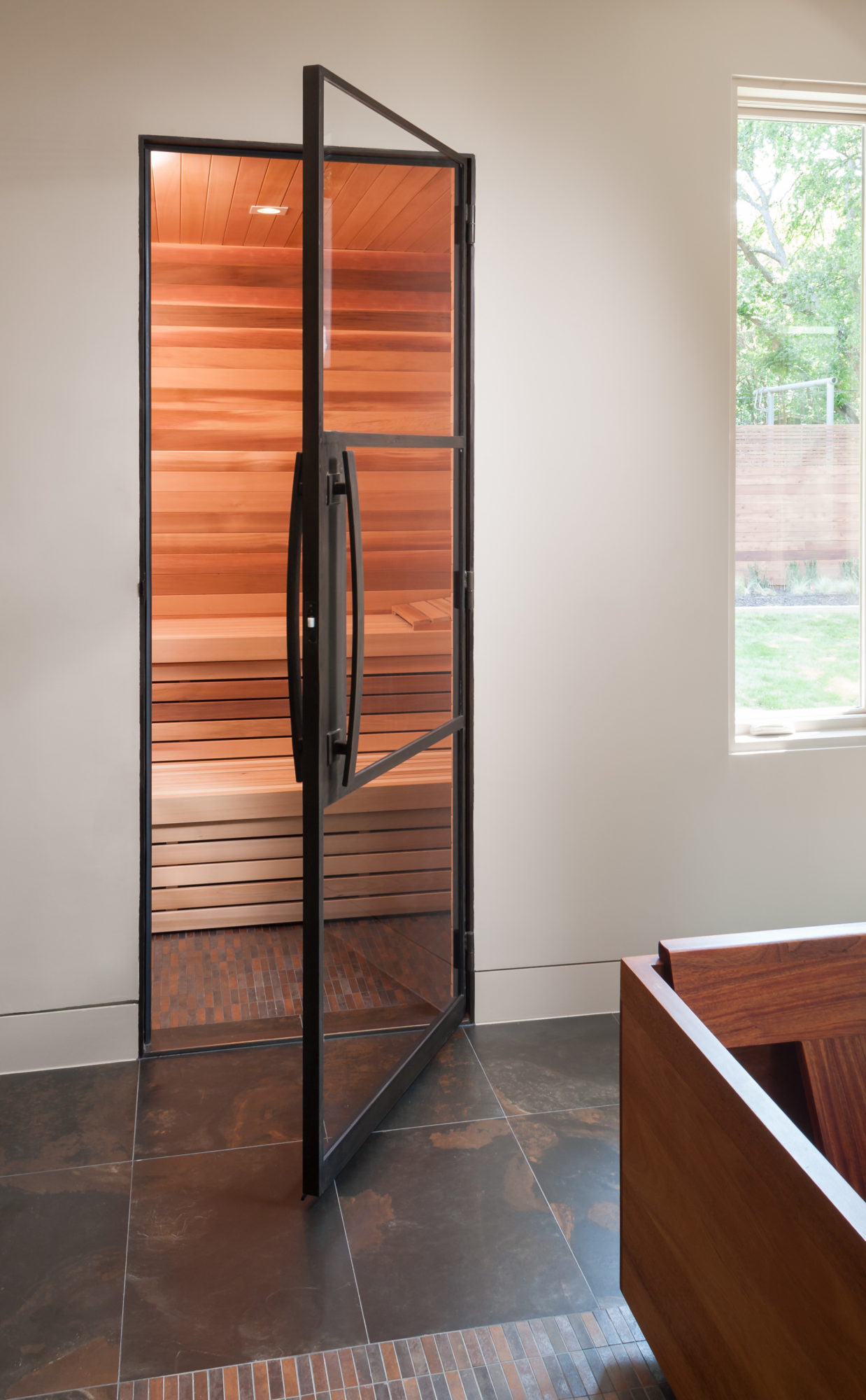 Out-Swing Single Shower Sauna Door