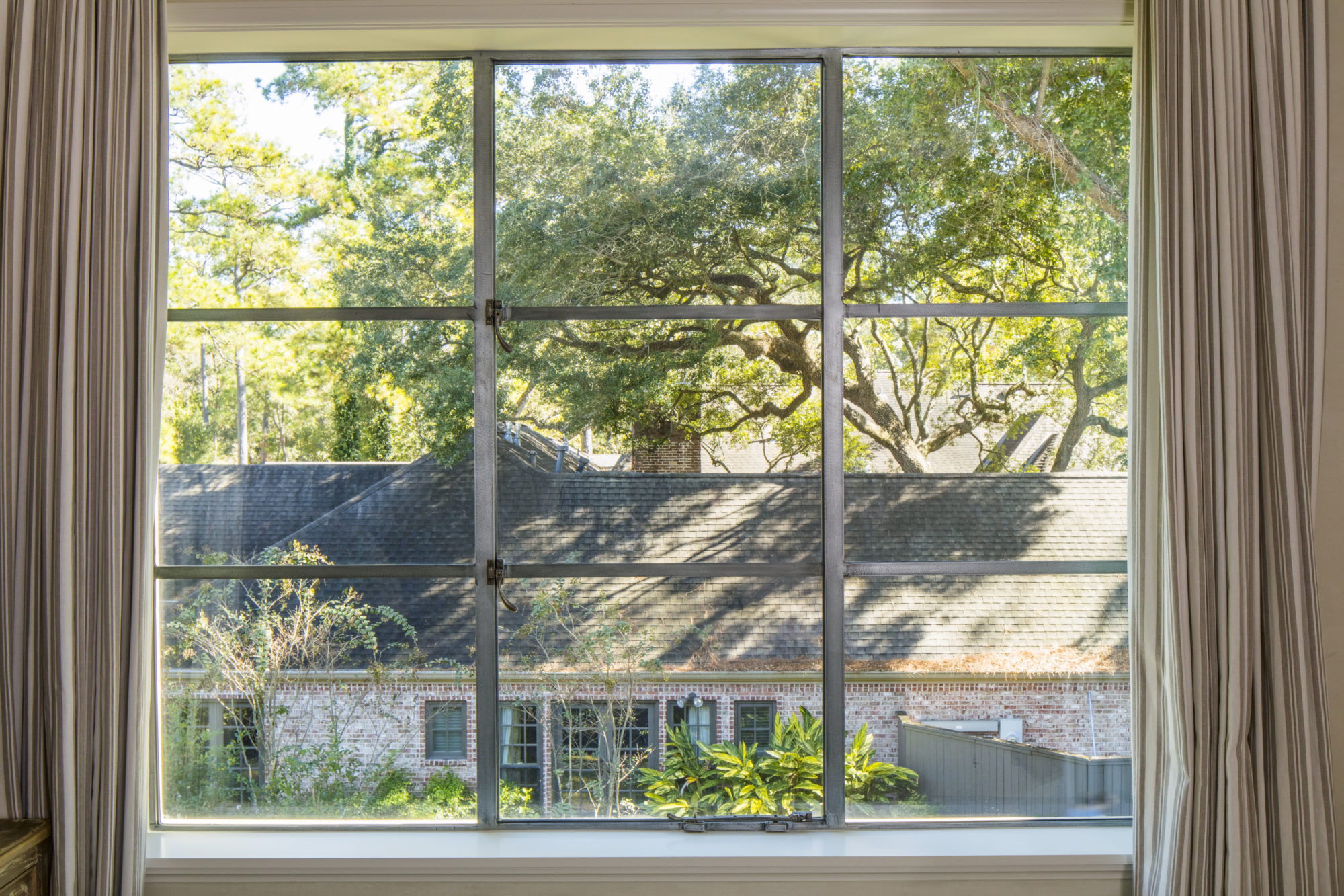 Out-Swing French Casement WIndow with Fixed Transom