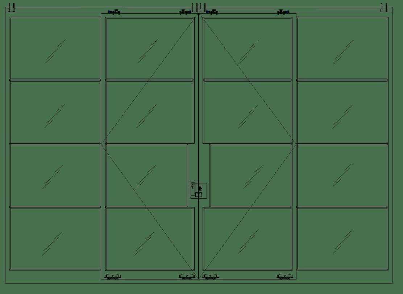 Diagram of Portella Multi Sliding Door