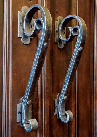 Custom Iron Work Door Handle
