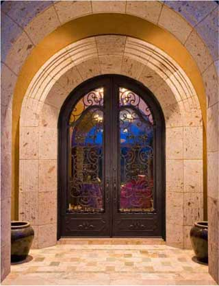 Portella Wrought Iron Door