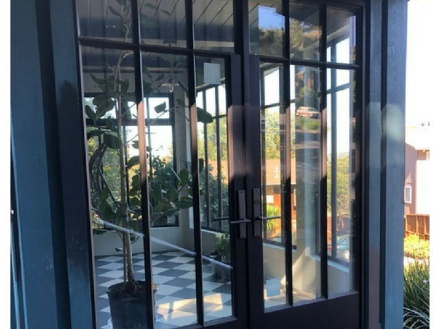 steel office doors with window