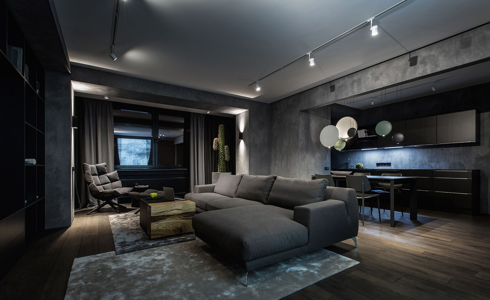 Modern dark interiors