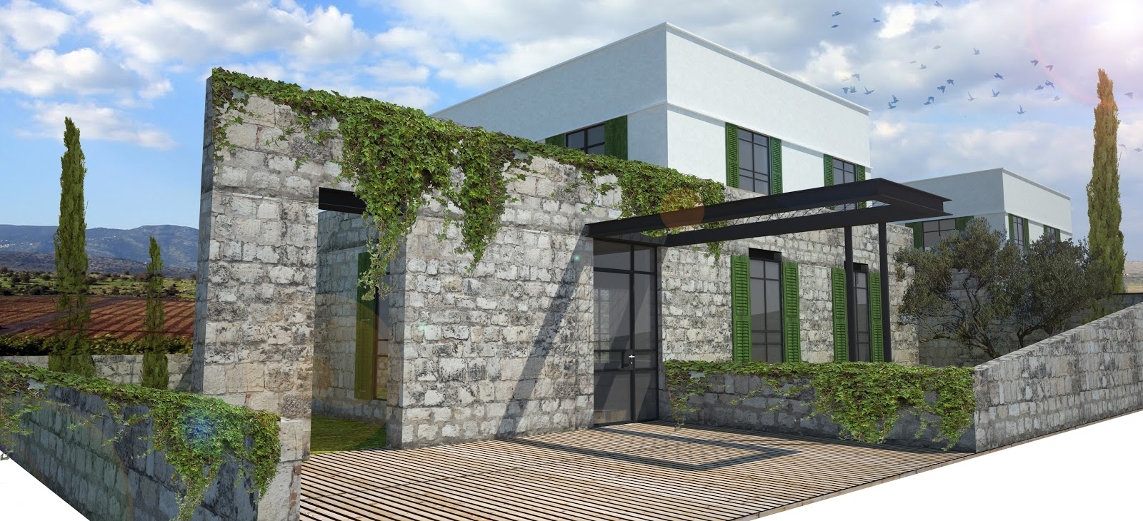combining modern and traditional architecture