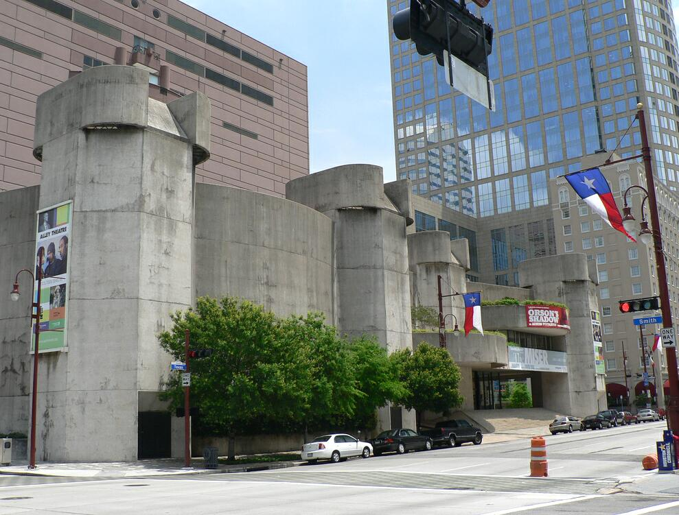 alley theatre houston architecture