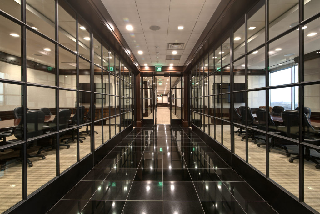 offices with steel doors and windows