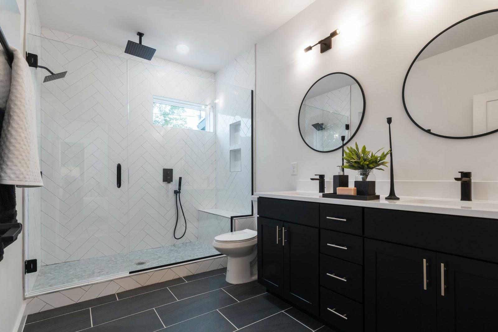 custom steel shower doors