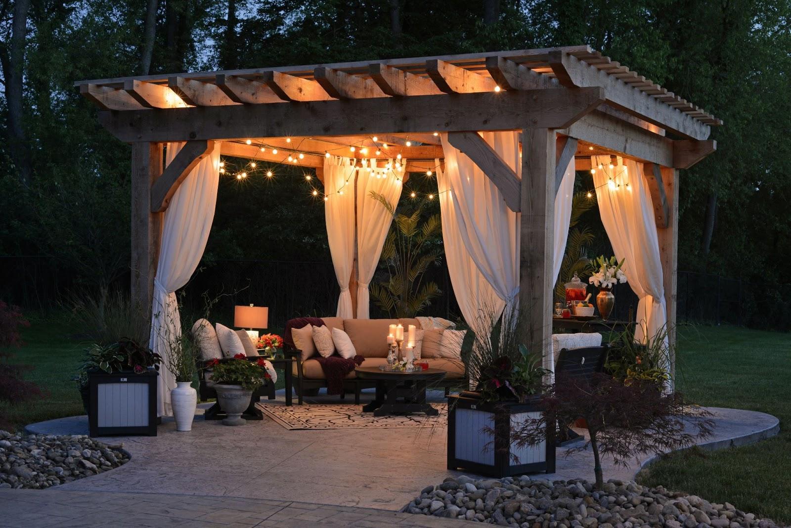 lighting to your backyard patio space